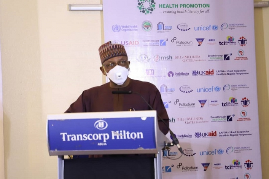 FG Commits To Improving Health & Wellbeing Of Nigerians Through Promotion Of Healthy Lifestyle.