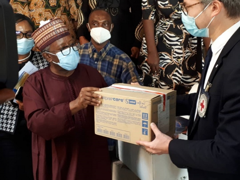 FG Receives Supplies From ICRC For Management Of COVID-19 Fatalities