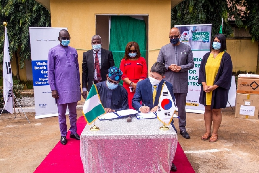 Republic Of Korea Donates 3 Smart Walk-through Booths For COVID-19 Sample Collection To Federal Government Of Nigeria
